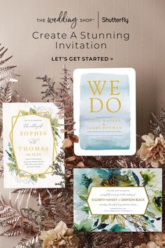 Every couple has a unique love story, and there's no better way to share it than through beautiful wedding invitations that excite guests for your big day. You'll love creating invites that complement your style, with special design details like personalized foil that set the tone for a stunning event. Let love bloom on any of our stunning wedding invitations, with designs ranging from rustic to refined from The Wedding Shop by Shutterfly. Classy Wedding Invitations, Personalised Wedding Invitations, Wedding Invitation Cards, Wedding Cards, Our Wedding, Invites, Dream Wedding, Rocker Wedding, Portland Wedding Venues
