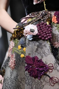 Tweed Rose: Close up: Elie Saab FW16