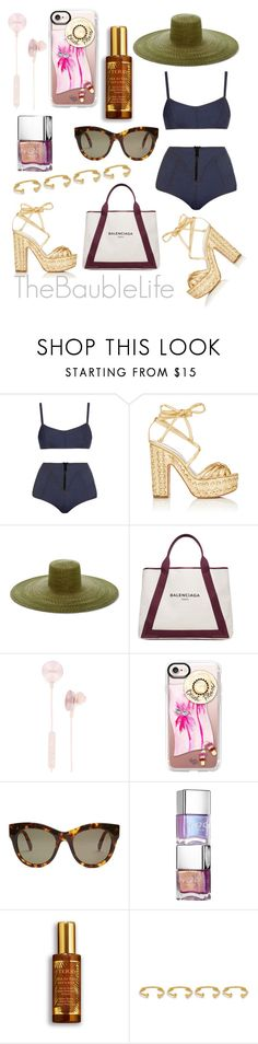 """LISA MARIE FERNANDEZ Genevieve Denim Bikini"" by thebaublelife ❤ liked on Polyvore featuring Lisa Marie Fernandez, Alchimia Di Ballin, Samuji, Balenciaga, i.am+, Casetify, STELLA McCARTNEY, By Terry, Joanna Laura Constantine and Summer"