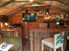 Garden Bar Funky Bar Counter, Micro Pub, Man Cave Summer house patio bar – do pallet