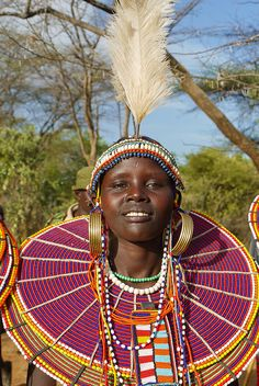 Africa - Kenya/Pokot woman by DeeDeeBean African Life, African Culture, African Women, African Art, We Are The World, People Around The World, Ethnic Fashion, African Fashion, Tribal People