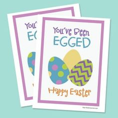 You've Been Egged Printable