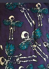 LuLaRoe TC Leggings Flying Skeletons Wings Skulls angels tall & curvy Halloween