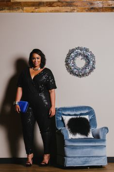 Plus Size Sequin Jumpsuit - Holiday Lookbook