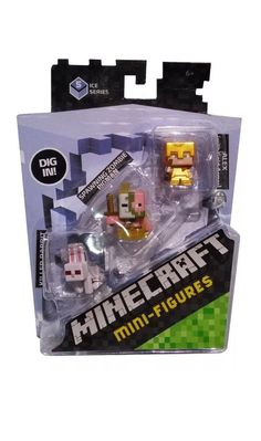 Alex Mattel Minecraft Mini-Figures DPY67 Zombie Pigman Killer Rabbit