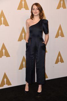 Emma Stone in Stella McCartney attends the Oscar nominee lunch 2017
