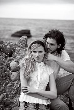 Baby Bardot Moment #9: Lara Stone with actor Kit HaringtonPhotograph by Peter Lindbergh, Vogue, March 2014Find the top 11 Brigitte Bardot doppelgängers on Vogue.com.
