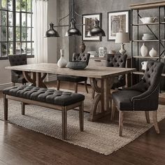 Dinning Room Tables, Dining Room Sets, Dining Room Design, Dining Chairs, Dinning Room Ideas, Dining Set With Bench, Living Room Decor, Inspire, Sleeper Sofas