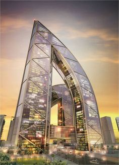 Architecture Building In Meydan City, Dubai ...Man's design it is!