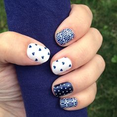 You just can't go wrong with Navy! Cute DIY nail art. http://rfairbank.jamberrynails.net/shop
