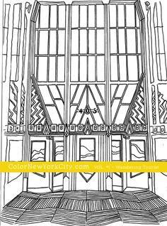 Chrysler Building Coloring Page From The Book Color New York City