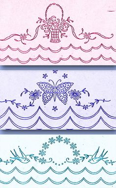 1920s Betty Burton Redwork Pillowcases Uncut Hot Iron Embroidery Transfer 1607 #BettyBurton #PillowcaseMotifs