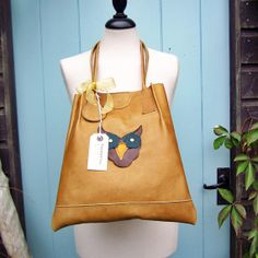 RIBBLE Hoot 2469 Soft leather Large book bag tote by Fairysteps, £150.00