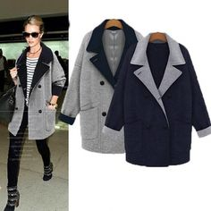 Fashion Ladies Cardigan Coat Loose Long Trench Coat Jacket 2015 Fashion Women Jacket