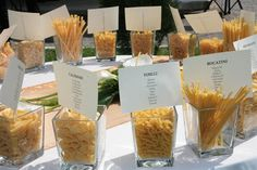 Tableau mariage with pasta
