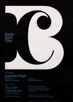 This poster from Vintage Posters at International Poster Gallery is simply fantastic! Basler Bach Chor / by Armin Hofmann