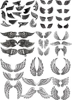 The vector file Wings Vector Set CDR File is a Coreldraw cdr ( .cdr ) file type, size is KB, under stickers, vector pack vectors. Dope Tattoos, Dream Tattoos, Mini Tattoos, Body Art Tattoos, Sleeve Tattoos, Tattoos For Guys, Eagle Wing Tattoos, Feather Tattoos, Wing Tattoo Men