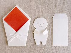 baby card Japanese Stationery, Paper Board, Paper Crafts, Diy Crafts, Japanese Design, Mail Art, Diy Projects To Try, Baby Cards, Paper Design