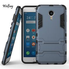 For Meizu Meilan Metal Shockproof Robot Armor Case Slim Hybrid Silicone Rubber Hard Back Phone Cover For Meizu M1 M57A MA01