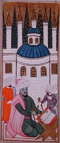 Taqī al-Dīn and his observatory. Source: Al-Ālāt al-rasadiya li-zīj al-shāhinshāhiyya, Library of the Topkapi Palace Museum, Hazine fol. Islam And Science, Ottoman Turks, Tarot Astrology, Medieval Life, Cultural Identity, Islamic Art, Miniatures, African, History