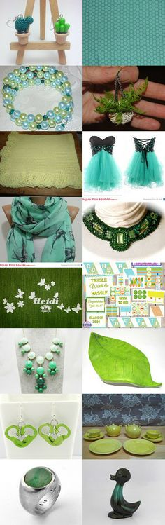 Gorgeous Green by Lisa and Relle Till on Etsy--Pinned with TreasuryPin.com