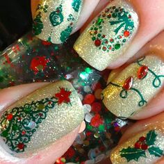 Cute Christmas Nail Art Designs - Styles 7