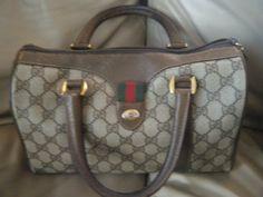 Vintage GUCCI Boston Handbag, GG Monogram by DancingSunbeams on Etsy Vintage Gucci, Louis Vuitton Damier, Diaper Bag, Boston, Monogram, Pattern, Bags, Etsy, Handbags