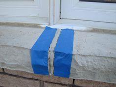 caulked sill repairing cracks