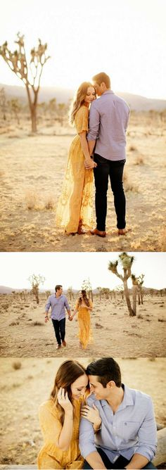 This desert engagement is breathtaking, and the couple has the cutest love story.