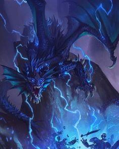 Dark Fantasy Art, Fantasy Artwork, Lightning Dragon, Mythical Dragons, Thunder Dragon, Cool Dragons, Fantasy Beasts, Dragon Artwork, Mythical Creatures Art