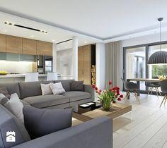 DOBRY 3 - salon - zdjęcie od DOMY Z WIZJĄ - nowoczesne projekty domów