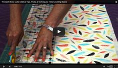 I've got some great rotary cutting tips to share with you and a link to my rotary cutting basics video for The Quilt Show.