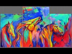 How to paint abstract horses Abstract expressionist mustangs acrylic pai...