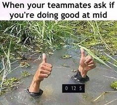 when your league game is weak