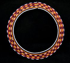 Africa | Beaded collar from the Masai people of Kenya | ca. 1950 - 1970s.