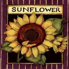 Sunflower Seed Packet by Susan Winget art print