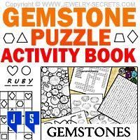 ►► GEMSTONE PUZZLE ACTIVITY BOOK ►► Jewelry Secrets