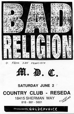 Bad Religion/MDC