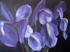 Irises (Oil and Acrylic on Canvas) by Susanne Langlois Toronto Life, Irises, Wow Products, Seafood, Condo, Canvas, Artist, Plants, Painting