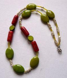 Edel - Olive mit Koralle von SonnenRegen auf DaWanda.com