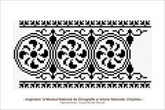 Risultati immagini per motive populare din transilvania Cross Stitch Borders, Cross Stitch Designs, Cross Stitch Patterns, Folk Embroidery, Cross Stitch Embroidery, Embroidery Patterns, Hobbies And Crafts, Diy And Crafts, Yarn Thread
