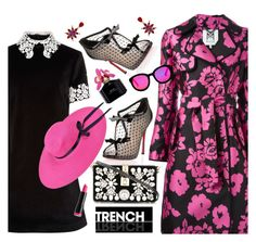 """""""Spring Trench Style"""" by esch103 ❤ liked on Polyvore featuring Milly, Christian Louboutin, macgraw, Dolce&Gabbana, NYX, AQS by Aquaswiss, Marc Jacobs and Oscar de la Renta"""