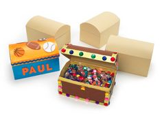 Papier Mache Chests Pack of 12 - Art and Craft - Categories