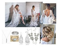 """""""Boho Bride Primrose Dress"""" by birchtreehippies ❤ liked on Polyvore featuring Bling Jewelry and Belk Silverworks"""