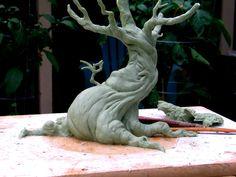 tree sculpture WIP front by RandyHand.deviantart.com on @deviantART