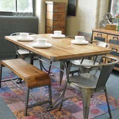 Are you interested in our large dining table? With our dinner table wood reclaimed you need look no further.