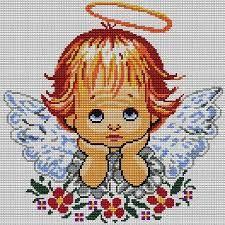 Znalezione obrazy dla zapytania wzory haftu krzyżykowego Cross Stitch Angels, Cross Stitch Baby, Cross Stitch Patterns, Crochet Angels, Tapestry Crochet, Pixel Art, Embroidery Designs, Diy And Crafts, Handmade