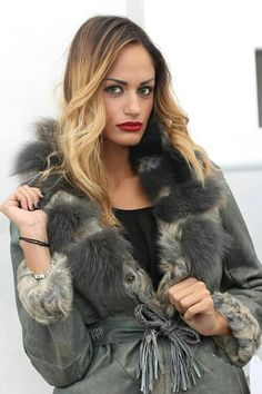 In #order to be #irreplaceable one #must #always be #different.  #Lamb #fur with #fox and #whole #skins.  #More #info and #buy: http://www.jewelsandfurs.com/web/en/shop/furs/ef001087/