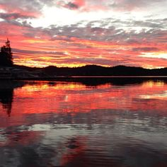 Sunset on Lake Arrowhead, from www.AfterOrangeCounty.com