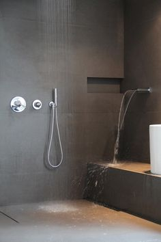 matte grey bathroom tiles